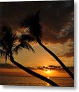 Ka'anapali Beach Sunset Metal Print