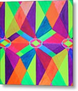 Kaleidoscope Wise Metal Print