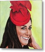 Katherine Duchess Of Cambridge Metal Print by Betty-Anne McDonald