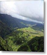 Kauai By Helicopter Metal Print