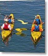 Kayakers In Bar Harbor Maine Metal Print