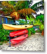 Kayaks In Paradise Metal Print