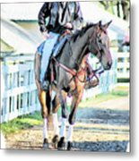 Keeneland Pony Boy Metal Print