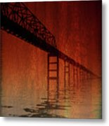 Key Bridge Artistic  In Baltimore Maryland Metal Print