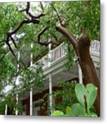 Key West Pink And Green Metal Print