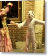 Kids Dancing During Carnevale In Venice Metal Print