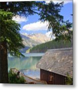 Kintla Lake Ranger Station Glacier National Park Metal Print