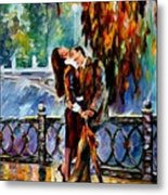 Kiss After The Rain Metal Print