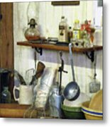 Kitchen With Wire Basket Of Eggs Metal Print
