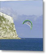 Kitesurfer At Yaverland Metal Print