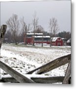 Knox Farm In Winter 0980 Metal Print