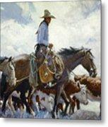 Koerner: Cowboy, 1920 Metal Print