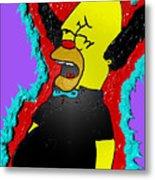 Krusty The Clown Found Dead Metal Print