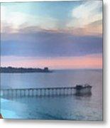 La Jolla Scripps Pier Metal Print by Russ Harris