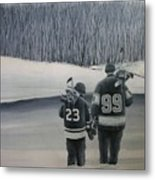 La Kings In Black And White Metal Print