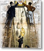 Labor Movement. Editorial Cartoon Metal Print