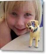 Lacey's Face Painted Dog Metal Print