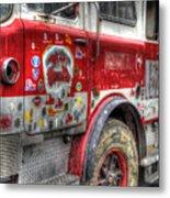 Ladder Truck 152 - In Remembrance Of 9-11 Metal Print by Eddie Yerkish