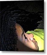 Lady In Dreadz Metal Print