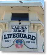 Laguna Beach Lifeguard Tower Metal Print