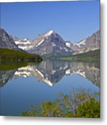 Lake At Many Glacier Metal Print