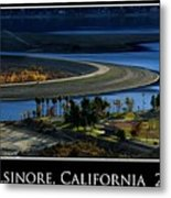 Lake Elsinore Sunset Metal Print