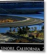 Lake Elsinore Sunset Metal Print