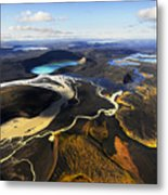 Lake In An Old Volcanic Crater Or Metal Print