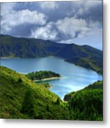Lake In The Azores Metal Print