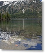 Lake Jenny Grand Tetons Metal Print