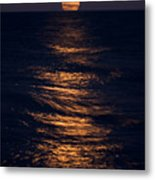 Lake Michigan Moonrise Metal Print