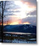 Lake Okanagan Sunset At Vernon Metal Print