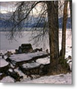 Lake Pend D'oreille At Humbird Ruins 1 Metal Print