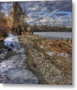Lake Pend D'oreille At Humbird Ruins Metal Print