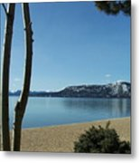 Lake Tahoe Incline Village Blue Sky Reflection Metal Print