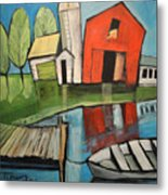 Lakeside Farm Metal Print