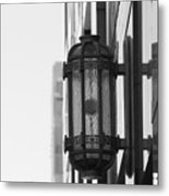 Lamp On The Wall Metal Print