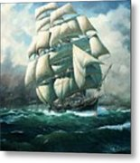 'land Ho' Cutty Sark Metal Print by Colin Parker