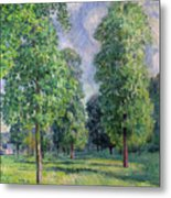 Landscape At Sevres Metal Print by Alfred Sisley