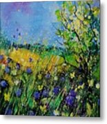 Landscape With Cornflowers 459060 Metal Print