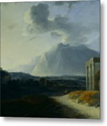 Landscape With Mount Stromboli Metal Print