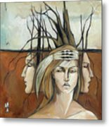 Landscaped Headdress Metal Print