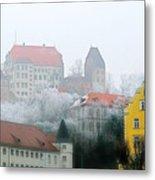 Landshut Bavaria On A Foggy Day Metal Print