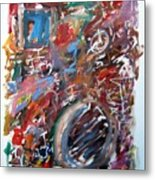 Large Abstract No. 6 Metal Print