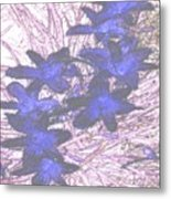 Last Frozen Flowers Metal Print