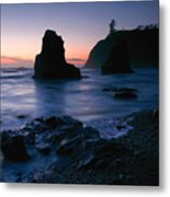 Last Light At Ruby Beach Metal Print