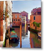 Late Afternoon In Venice Metal Print