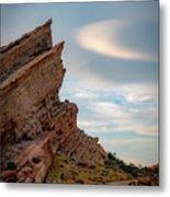 Late On Vasquez Rocks By Mike-hope Metal Print