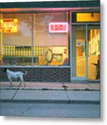Laundromat Open Metal Print