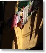 Laundry In The Sun In Venice Metal Print